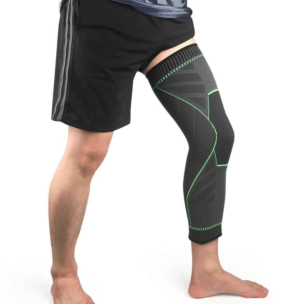 knee protector support compression knee pads for joints arthritis brace sport leg warmers volleyball football elastic bandage Sports Knee Protector Pads Support Knee Pads For Joints Leg Warmers Fitness Kneepads Green Lengthen Elastic Compression Bandage