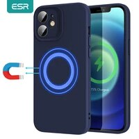 esr magsafe case for iphone 12 12 pro max support holalock magnetic wireless charger soft silicone case for iphone 12 pro max