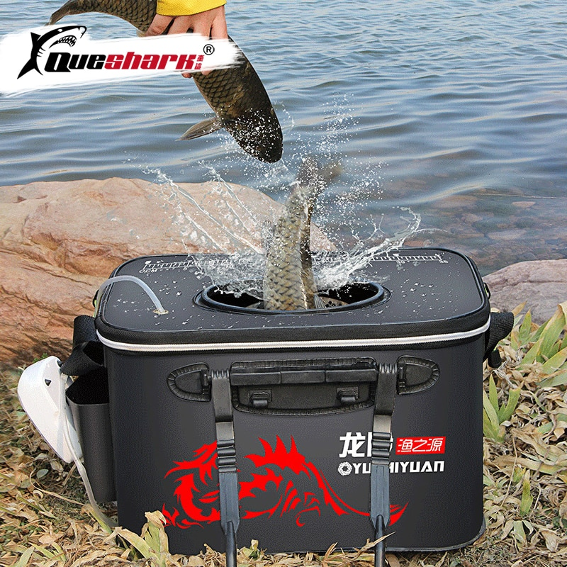 Asa plegable Cubo de pesca EVA Fishbox caja de agua al aire libre embalaje vivo cubo para peces espesado tanque de pesca bolsa de equipo de pesca