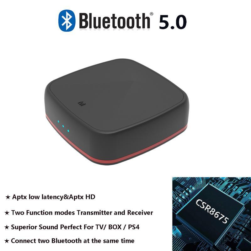 Receptor y transmisor Bluetooth 5,0 CSR 8675, adaptador APTX HD Bluetooth, baja latencia, inalámbrico, Audio óptico, RCA, compatible con AAC r60