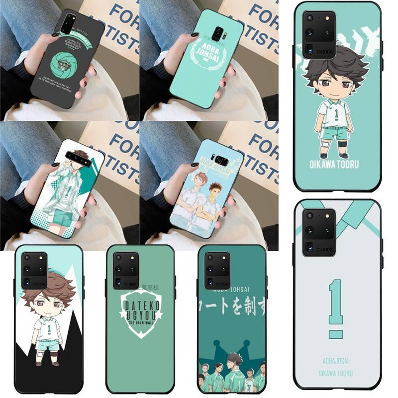 Funda de teléfono CUTEWANAN anime Haikyuu Oikawa, diseño único de lujo, para Samsung S20 plus, Ultra S6, S7 edge, S8, S9 plus, S10, 5G