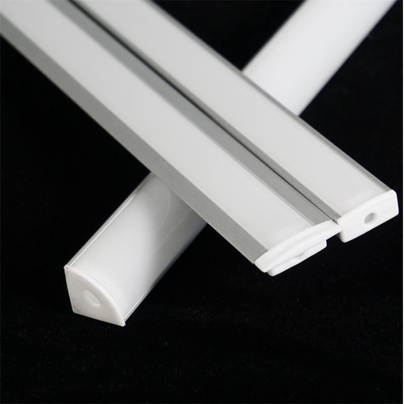 30/40/50CM 12/16/20Inch led aluminium Profile,YW V U 12V 24V Rigid Strip Channel,Corner Recessed Fla