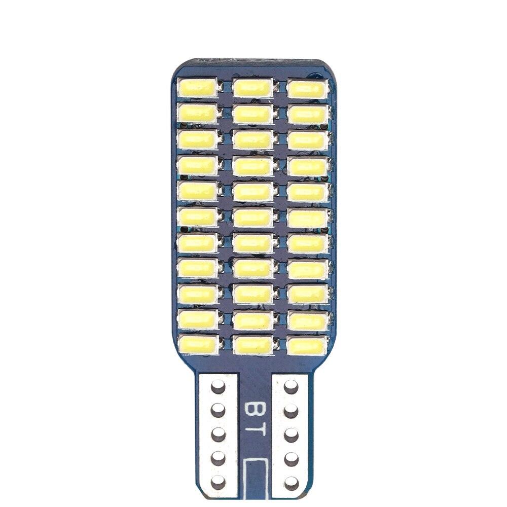 2 pçs carro decodificação led w5w único lado marcador lâmpada traseira da caixa traseira lâmpada da placa de licença t10 3014 33 lâmpada luzes de folga