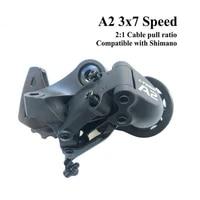 1x ltwoo a2 721 speed shifter brake mountain rear derailleur for mtb bike cassette 7 8 speeds universal support 32t flywheels