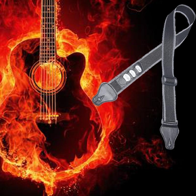 Guitarra ajustable correas de hombro correa de guitarra eléctrica Correa eslinga guitarra púas ranura acústica Ukelele instrumento Musical