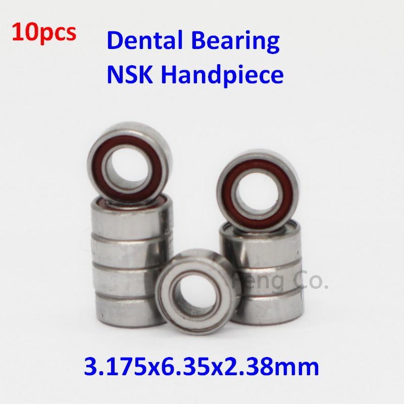 10pcs High Speed Handpiece Turbine NSK Dental Bearings RUCA SR144TLZN 3.175x6.35x2.38mm SS Ball Dentist