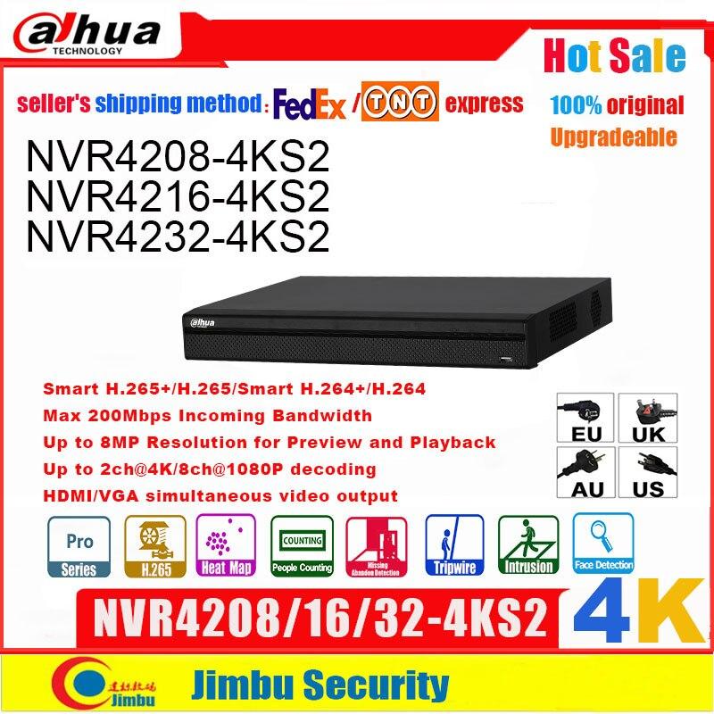 داهوا NVR 4k 8CH 16CH32CH NVR4208-4KS2 NVR4216-4KS2/L NVR4232-4KS2 H.265/H.264 دقة تصل إلى 8MP للمعاينة والتشغيل