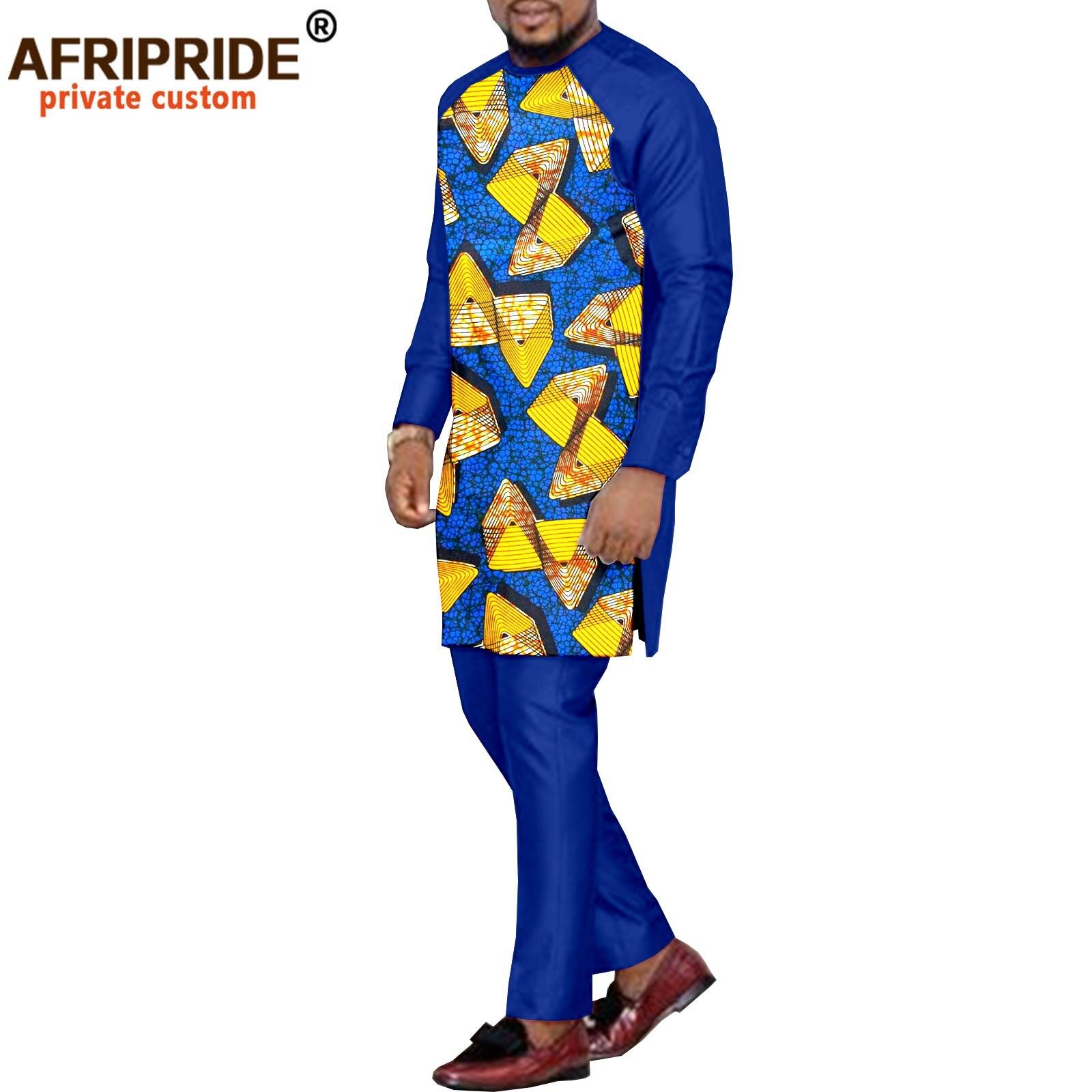 Африканская традиционная одежда для мужчин, куртка с рисунком Дашики и фото, комплект из 2 предметов, пальто, Блейзер, искусственная одежда, ...