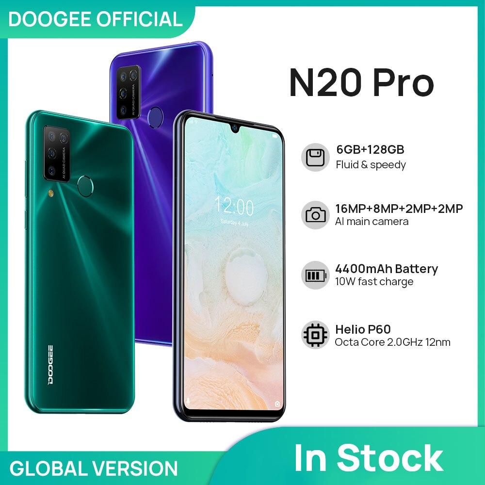 Перейти на Алиэкспресс и купить DOOGEE N20 Pro Quad Камера мобильных телефонов Helio P60 Octa Core 6 ГБ Оперативная память 128 Гб Встроенная память глобальная версия 6,3 дюймFHD + безрамочный экран ...
