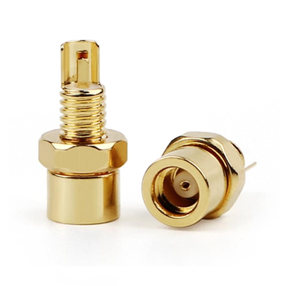 MMCX femelle prise écouteur broche IE800 plaqué or connecteur Hifi Audio prise adaptateur PCB montage bricolage longue/courte prise casque broche