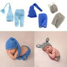 Accessoires de photographie pour bébés 2 pièces   Costume pour nouveau-né, pantalon pour nouveau-né, chapeau, Costume pour filles et garçons, chapeau de poupée, vêtements pour prise de Photo
