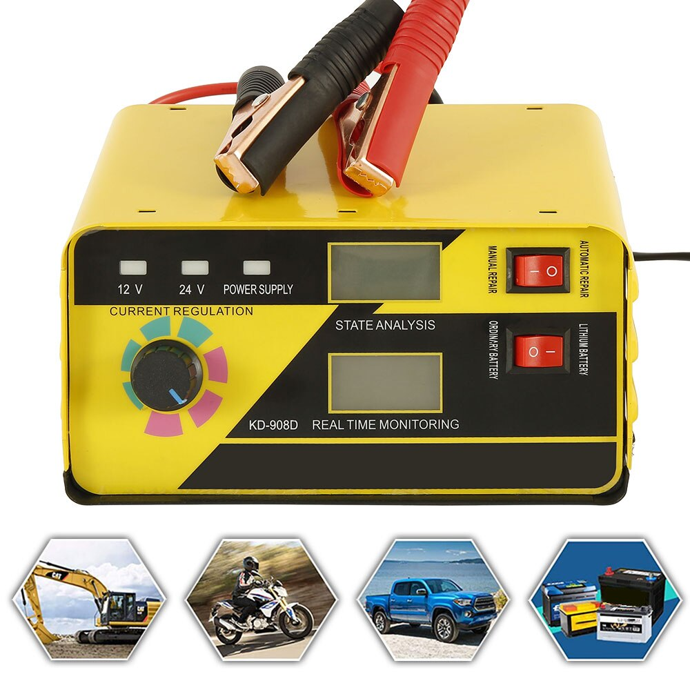 Smart Schnelle Lade Auto Batterie Ladegeräte 240W 12 V/24 V Auto Motorrad Lkw LCD Digital Display Puls reparatur Netzteil
