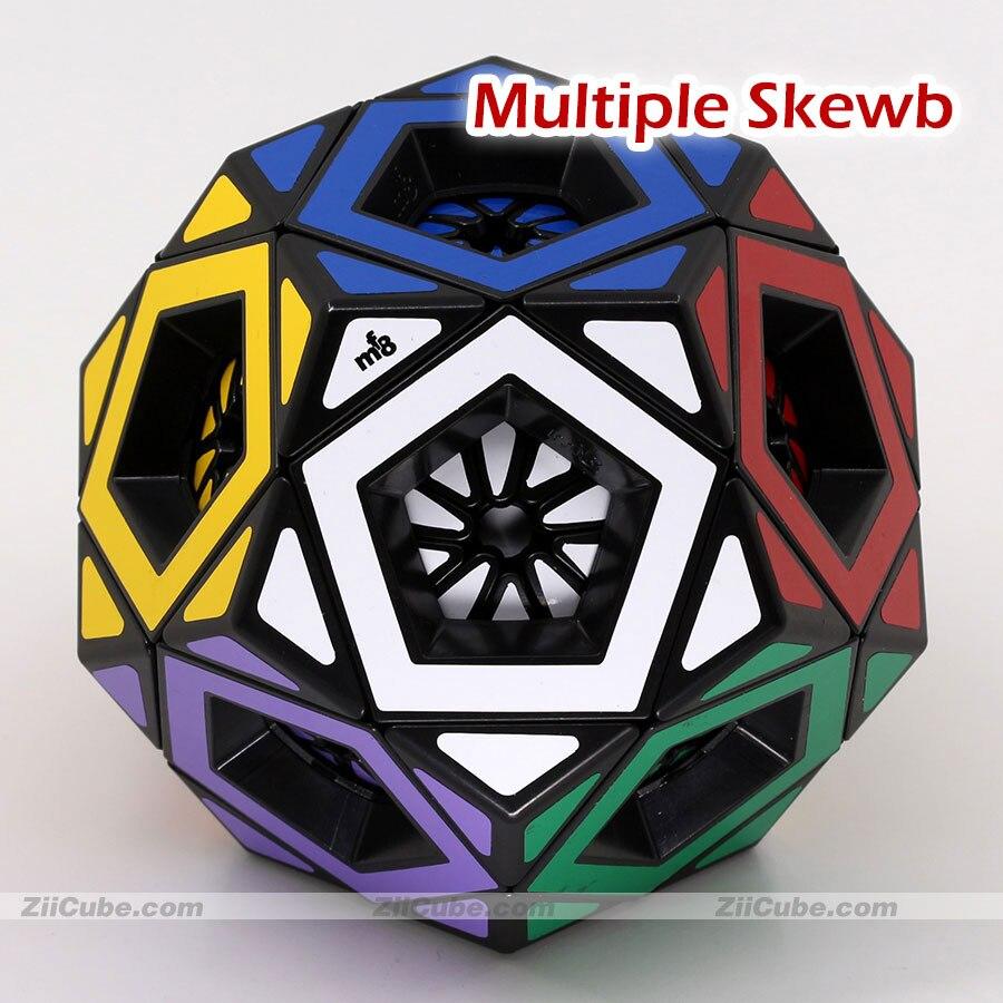 مكعبات ألغاز سحرية mf8 ، Megaminxeds ، Dodecahedron Cube ، ملصقات ، سيخ متعددة ، لعبة تعليمية احترافية