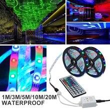 Bande Flexible de LED de rvb DC12V 3528 SMD ampoules LED lumière de corde 60led s/M lampe de nuit dusb ruban de bande de rvb avec le contrôleur 1/3/5/10/20M