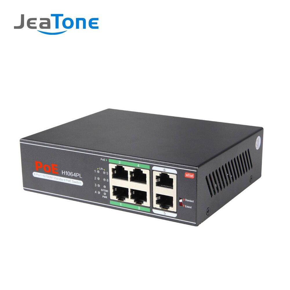 JeaTone 4/8/16/32-Port 10/100Mbps PoE Switch for IP Video Door Phone Intercom enlarge