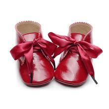 4 farben Süße Casual Baby Schuhe Prinzessin Mädchen Baby Kinder Pu Leder Solide Krippe Babe Infant Kleinkind Nette Bogen Baby schuhe