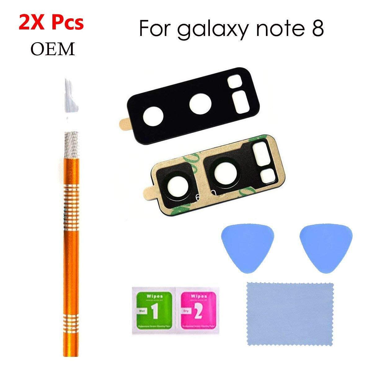 Reemplazo de cubierta de lente de cristal de cámara trasera OEM Compatible con Samsung Galaxy Note 8 N9509 N9508 con herramientas de reparación rápida y fácil