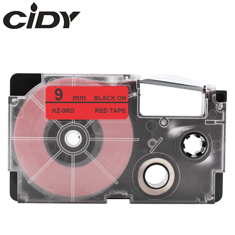 CIDY 10 قطعة متوافق XR 9RD XR9RD 9 مللي متر أسود على الروتين خرطوشة XR-9RD ل كاسيو التسمية صانع KL-120 KL-100 KL-780 KL1500