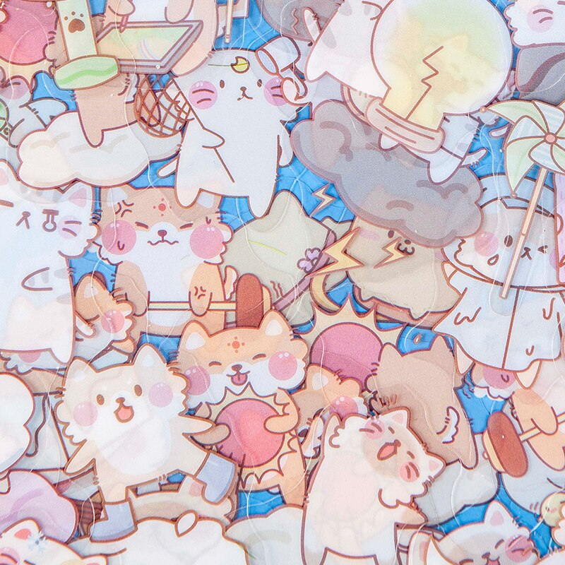 45 sheets Cartoon Kawaii Decoration Adhesive Stickers Diy Cute Japanese Stationery Diary Sticker Scrapbook Stationery Stickers kawaii rosyposy life series cute sticker custom stickers diary stationary flakes scrapbook diy decorative stickers
