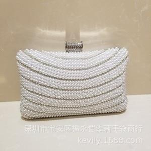 Kaiweili Pearl Diamond Evening Party Bag Wedding Evening Dress Bag Handbag Bridesmaid Bag Chain Shoulder Cheongsam Bag Female