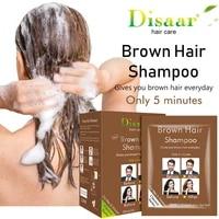 25ml10 bagbox disaar permanent brown blonde color hair wash and care hair dye shampoo hair color