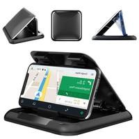 Автомобильный держатель для телефона из углеродного волокна с креплением на приборную панель, универсальный, 3-7 дюймов, мобильный телефон
