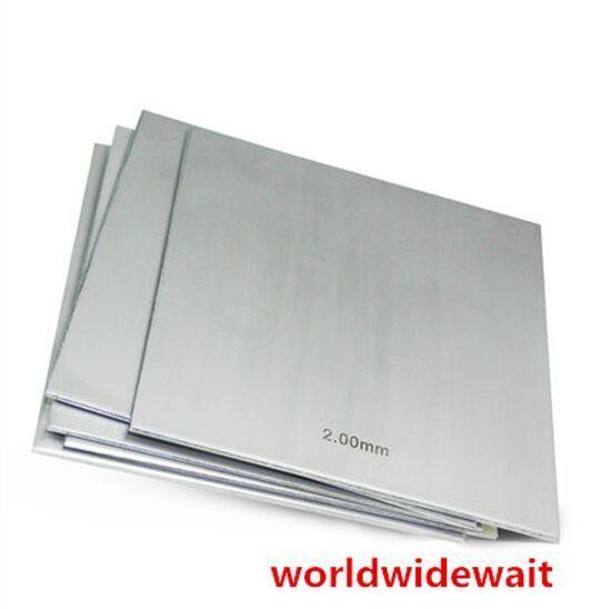 1 قطعة 304 الفولاذ المقاوم للصدأ المصقول شريحة لوح من الألمونيوم 450*450*1 مللي متر