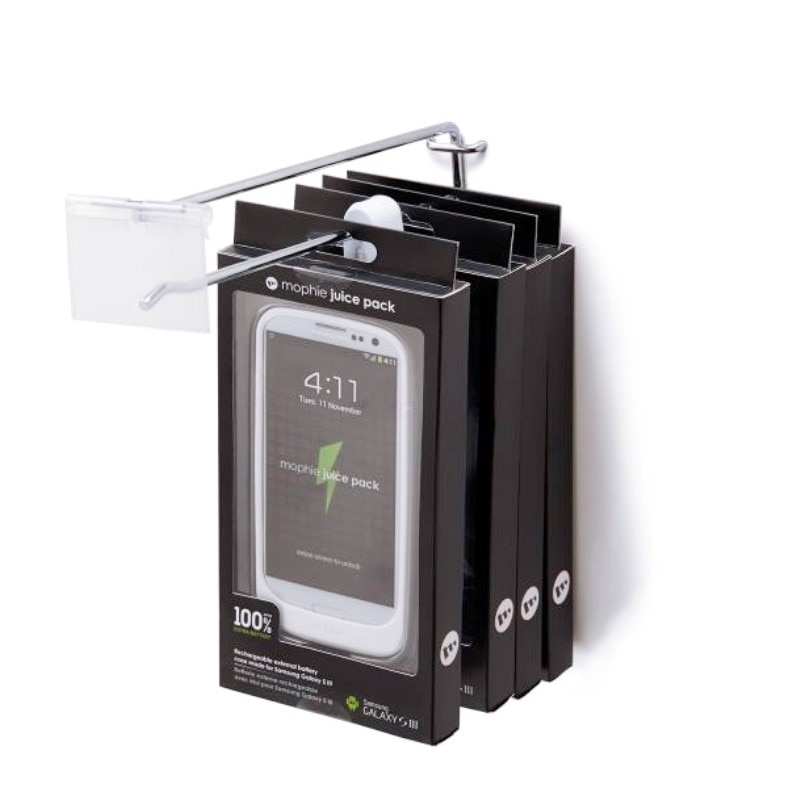 100x Plastic Security Retail Shop Hook Stoplock EAS Anti-Theft Display Stop Lock Super Market Lock Catch With Magnetic Detacher enlarge