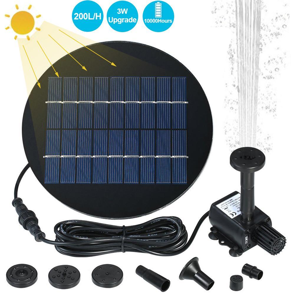Bomba de Fuente Solar bomba de agua alimentada por energía Solar Kit para jardín al aire libre estanque piscina