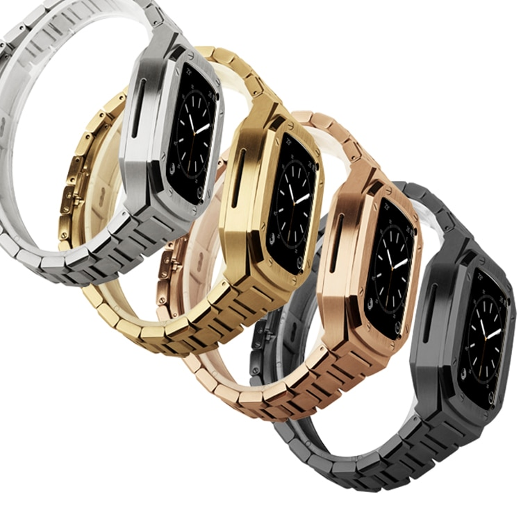 Stainless Steel Band Set Modification for Apple Watch Band 40mm 44mm 42mm 38mm Metal Watch Case for IWatch Series6 SE 5 4 3 2 1 enlarge