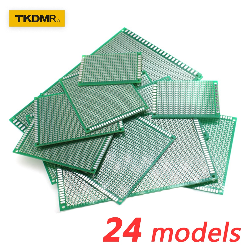 2pcs Electronic PCB Board 3x7cm Diy Universal Printed Circuit Board 3*7cm Double Side Prototyping PCB For Arduino Copper Plate