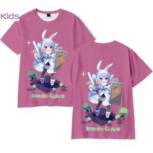 VTuber Usada Pekora 3D Printing T-shirt Summer Fashion Kids O-Neck Cartoon Women/Men Japanese Streetwear Plus Size