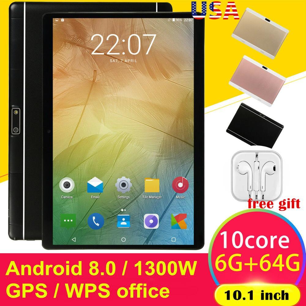 10,1 zoll HD Spiel Tablet Computer PC Android 8,0 Zehn-Core GPS WIFI Dual Kamera