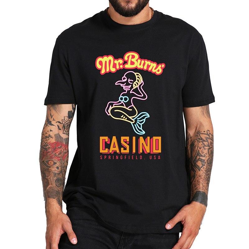 Merman T Shirt Mr. Burns Gambling Company Mascot Shirt Springfield Asian Size Pure Vintage 100% Cotton Simpson Tops