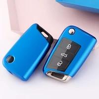 fashion charm car key cover remote tpu lightweight soft transparent car key case car key holder shell for volkswagen polo