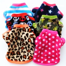 Warm Fleece Pet Dog Clothes Cute Skull Printed Pet Coat Puppy Dogs Shirt Jacket French Bulldog Pullo
