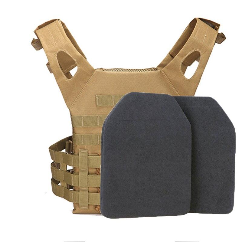 2 uds Airsoft táctico chaleco protector EVA almohadilla militar SAPI Shock Plate Dummy Foam caza chaleco Body Armor placas Accesorios