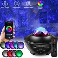 Tuya Galaxy Light Projector Night Lamp Rgb Starry Sky With Smart Wifi Bluetooth Voice Control For Kid Baby Bedroom Decorative