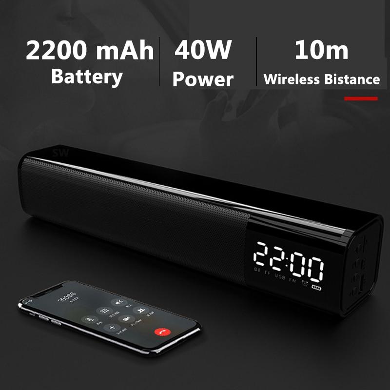 40W Barra de sonido inalámbrico Altavoz Bluetooth Altavoz sonido de cine en...