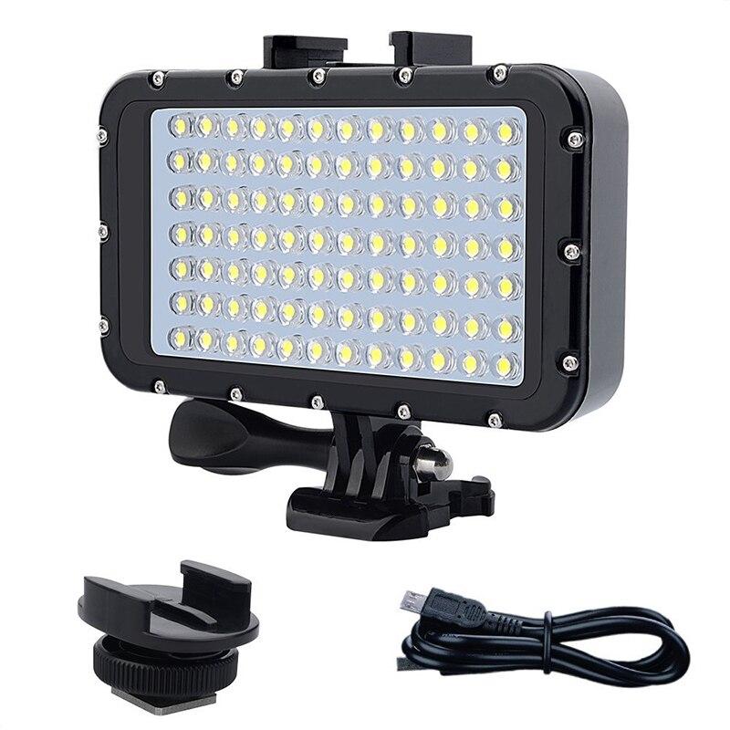 50m impermeable buceo Led luz de noche 84 Led Luz de vídeo iluminación fotográfica lámpara de buceo para Gopro Hero 3/3 + /4/4S/5/5S/6