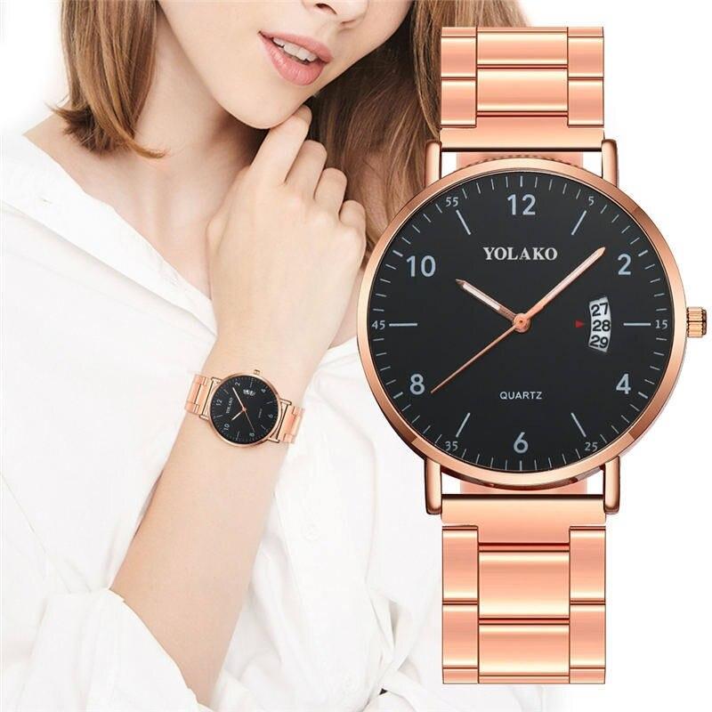 Women Watches Luxury Rose Gold Ladies Quartz Wrist Watches Fashion Casual Women Bracelet Watch for Female Clock Relogio Feminino
