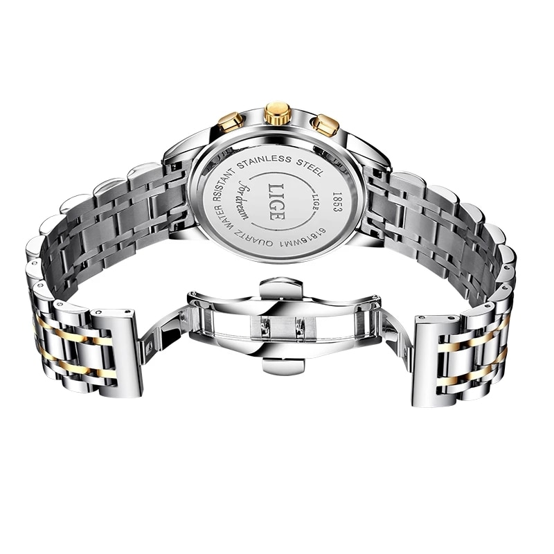 2021 LIGE New Rose Gold Women Watch Business Quartz Watch Ladies Top Brand Luxury Female Wrist Watch Girl Clock Relogio Feminino enlarge