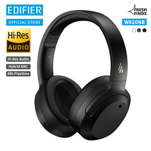 EDIFIER W820NB ANC Wireless Headphones Bluetooth Headsets Hi-Res Audio Bluetooth 5.0 40mm Driver Type-C Fast Charge Hybrid ANC