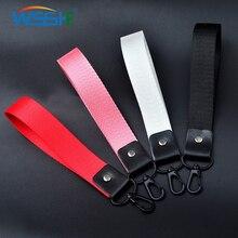 Handy Gurt Lanyard für Schlüssel USB stick ID karte handy Polyester Kurze Lanyards Klassische plain 8 farbe Universal seil