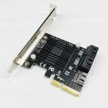 H1111Z ajouter des cartes PCIE SATA contrôleur PCI-E SATA Hub/carte PCIE à SATA 3.0 carte 5 Ports SATA3 SSD PCI Express X4 Gen3 adaptateur