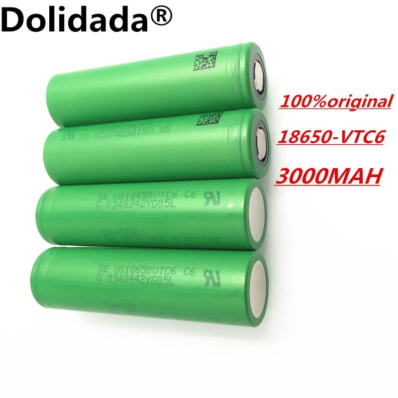 Dolidada 100% original VTC6 18650 V 3000 mAh Li-ion de 3,7 que fue pour us18650 vtc6 3000 mAh batera USO juguetes herramient comme