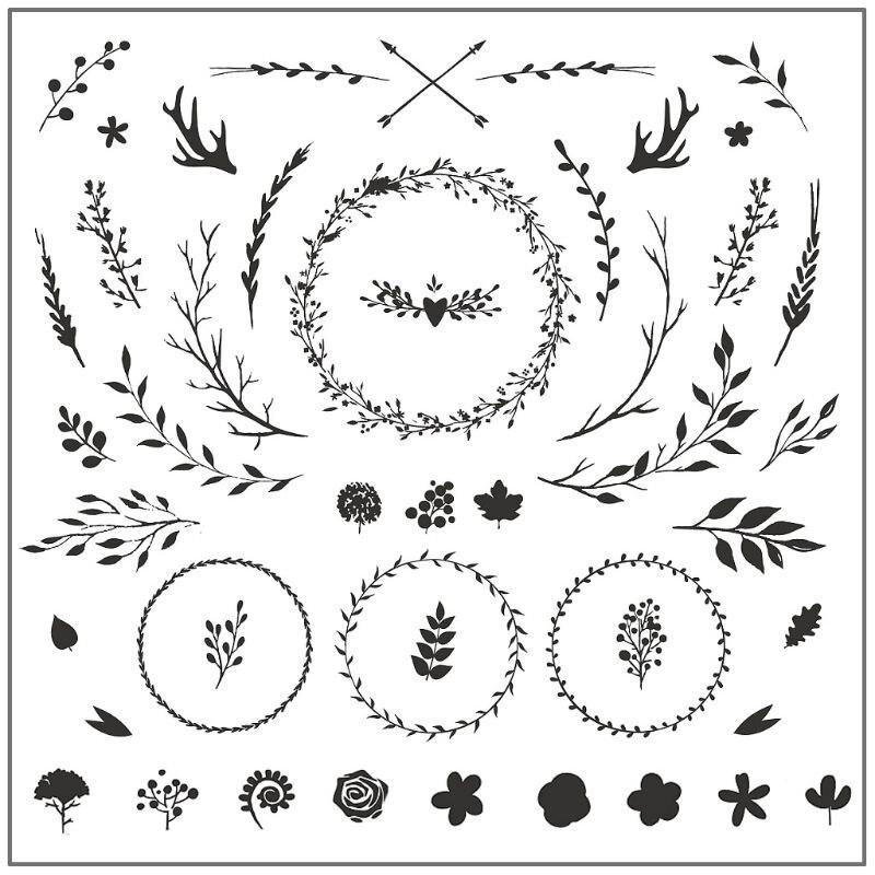 Girlande Blätter Silikon DIY Klar Briefmarken Scrapbooking für Fotoalbum Papier Karte Kunst Handwerk Decor Neue Briefmarken 2019