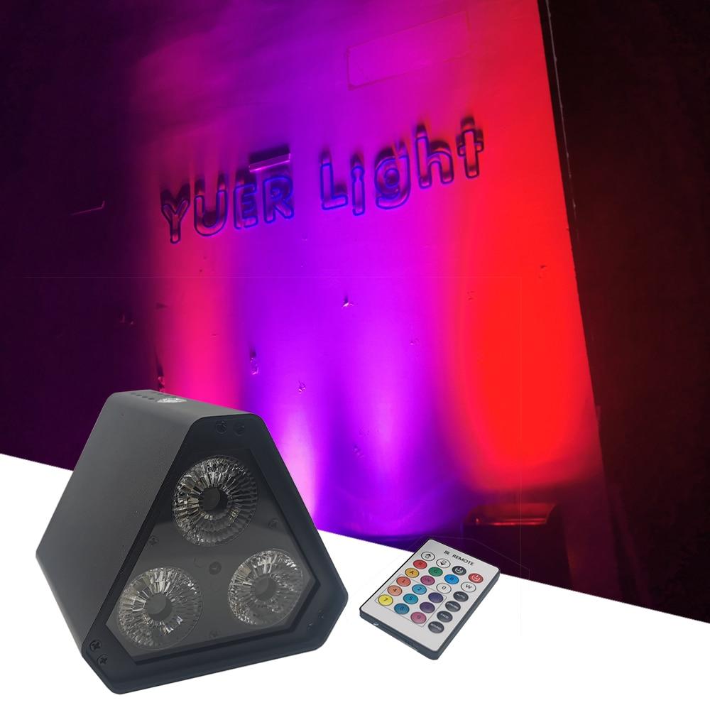 2021 Mini Wireless Battery LED Par Light 3x18W RGBWAUV 6in1 LEDs Stage Effect Lights DJ Disco Wedding Party Club Wash Light