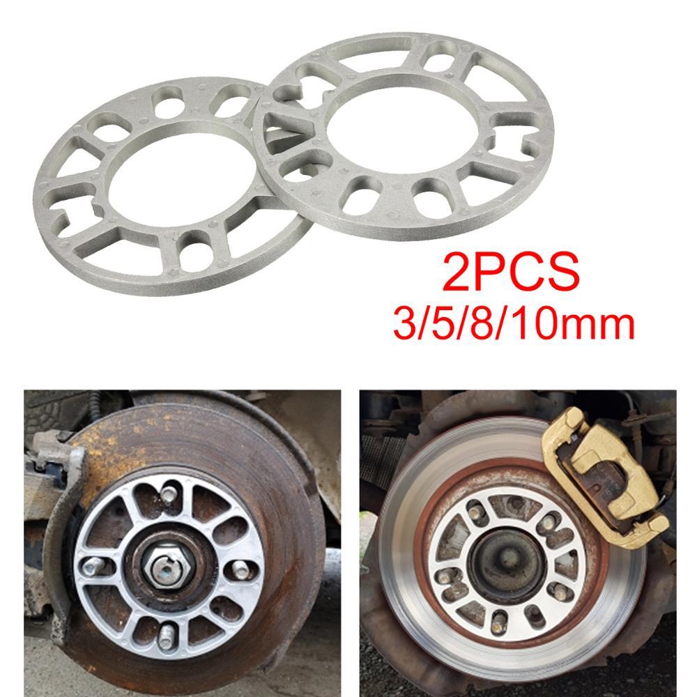 2 шт. 3/5/8/10 мм Универсальное колесо из алюминиевого сплава прокладки панель прокладок для 4/5 шпильки 4x100 4x114,3 5x100 5x108 5x114,3 5x120
