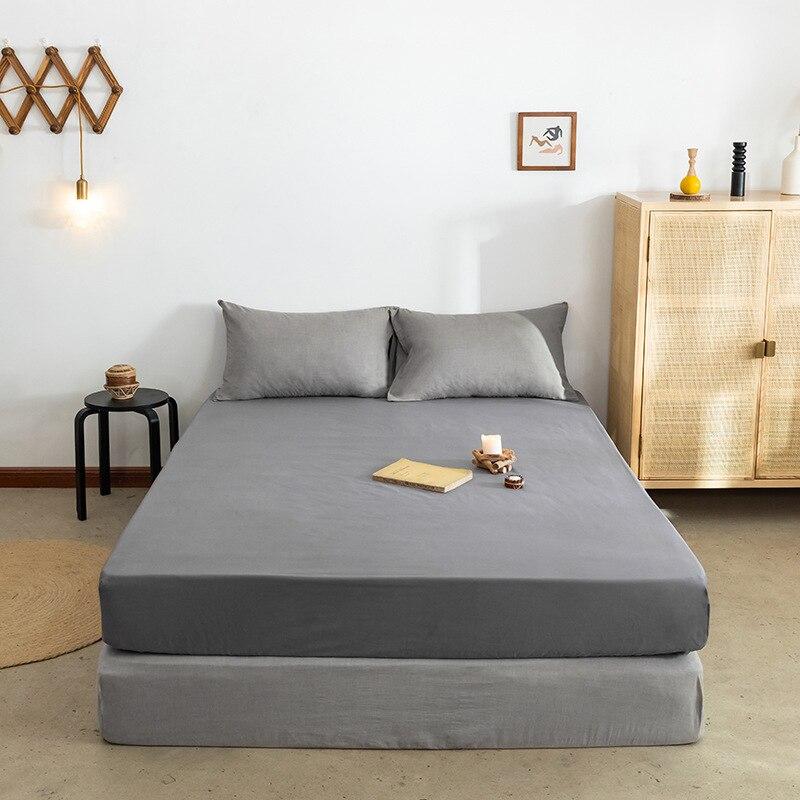 هرع رائجة البيع 10 ألوان غطاء السرير مرتبة قطنية يغطي عدم الانزلاق مرنة المجهزة ورقة المفرش بطانة واقية حجم الملك الملكة